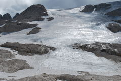 Glacier de Marmolada Photos libres de droits