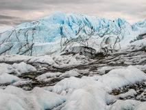 Glacier de Matanuska, Alaska Photos stock
