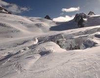 Glacier de montagne Photographie stock