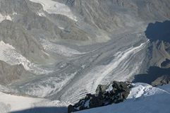 Glacier de montagne Photos stock