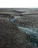 Glacier de Myrdalsjokull fondant en Islande Photographie stock libre de droits