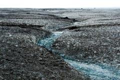 Glacier de Myrdalsjokull fondant en Islande Photo libre de droits