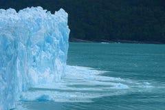 Glacier de Perito Moreno, beau mur bleu de glace, Argentine Image stock