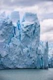 Fin de Perito Moreno vers le haut Photo stock