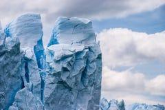 Fin de Perito Moreno vers le haut Images stock
