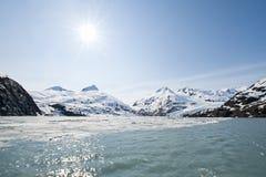 Glacier de Portage Photographie stock libre de droits