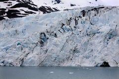 Glacier de Portage, l'eau de glace bleue Anchorage Alaska images stock