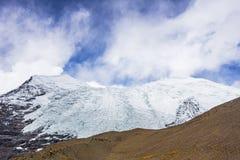Glacier de Rola de carte au Thibet de la Chine Photos libres de droits