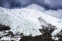Glacier de Rola de carte au Thibet de la Chine Photo libre de droits