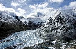 Glacier de Rongbuk dans le mont Everest Photos stock