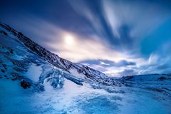 Glacier de Solheimajokull Photos stock