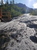 Glacier de sortie de trekking image stock