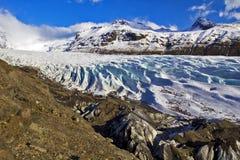 Glacier de Svinafellsjokull, Skaftafell, Islande. Photos libres de droits