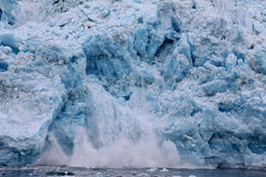 Glacier de vêlage - glacier de Hubbard, Alaska Photos libres de droits