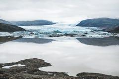 Glacier de Vatnajokull, Islande Photographie stock libre de droits