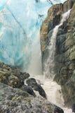 Glacier de Worthington, Alaska image libre de droits