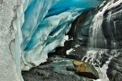 Glacier de Worthington par la route près de Wrangell-St Elias NP, Alaska photographie stock