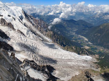 Glacier des Bossons Stock Photos