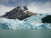Glacier descending the mountain. Royalty Free Stock Photo