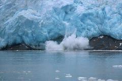 Glacier du nord-ouest de vêlage Photo stock