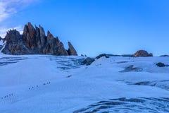 Glacier du Tour在法国阿尔卑斯 免版税库存照片