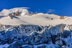 Glacier du Tour在法国阿尔卑斯 免版税图库摄影