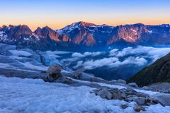Glacier du Tour. French Alps Stock Image