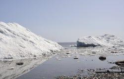 Glacier at the edge of lake Royalty Free Stock Photos