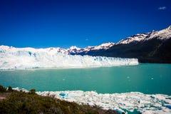Glacier at el calafate Argentina. Glacier and bay at el calafate Argentina South America royalty free stock photography