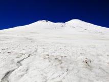 Glacier of Elbrus Stock Photos