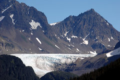 Glacier en Alaska Photographie stock