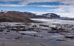 Glacier en montagnes de l'Islande Image stock