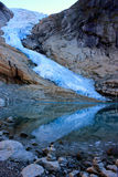 Glacier en montagnes scandinaves Photo stock