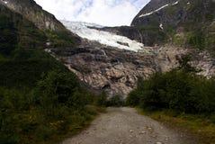 Glacier en Norv?ge Paysage montagneux de la Norv?ge Nuages et montagnes images libres de droits