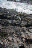 Glacier en Norv?ge Paysage montagneux de la Norv?ge Nuages et montagnes image stock