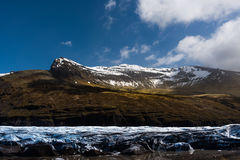 Glacier en Sunny Iceland Photo libre de droits