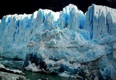 Glacier in evening sunlight. Perito Moreno Glacier in Calafate, Patagonia Royalty Free Stock Images
