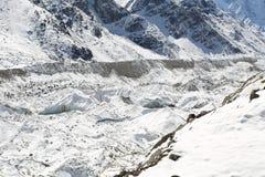 Glacier beside of everest basecamp from everest trek Royalty Free Stock Images
