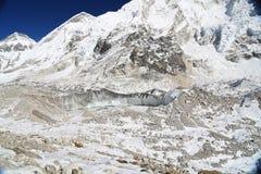 Glacier beside of everest basecamp from everest trek Royalty Free Stock Image