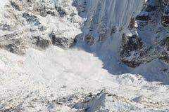 Glacier beside of everest basecamp from everest trek Royalty Free Stock Photos