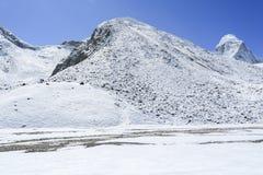 Glacier beside of everest basecamp from everest trek Stock Photography
