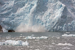 Glacier Exploding Stock Photography