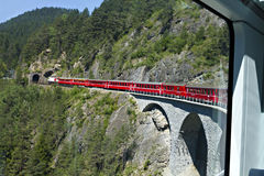 Glacier Express driving Stock Image