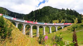 Glacier Express From Zermatt To Sankt Moritz, Switzerland Stock Images