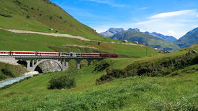 Glacier Express from Zermatt to Sankt Moritz, Switzerland stock video