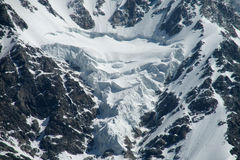Glacier falling blocks Royalty Free Stock Photo