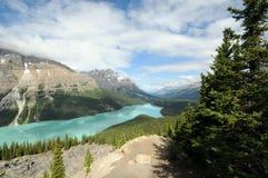 Glacier fed lake stock image