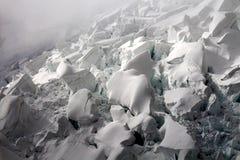 Glacier. Fiescher glacier under Eismeer station. Mountain glacier in Swiss Alps stock photography