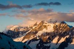 Glacier-flanked Mt Aoraki Royalty Free Stock Images