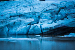 Glacier floating in Iceland and melting Stock Photos